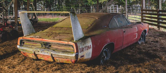 Abandoned Dodge Charger Daytona