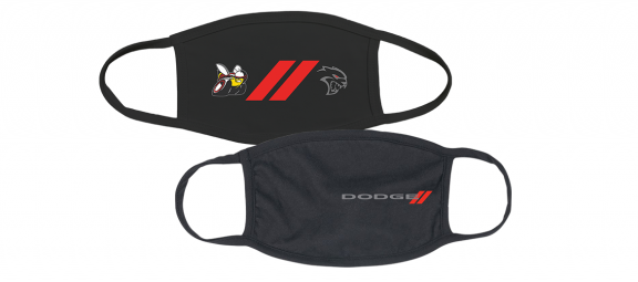 Dodge branded face masks