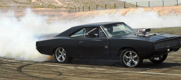 Dodge Charger doing a burnout