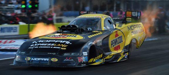 Matt Hagan's funny car racing