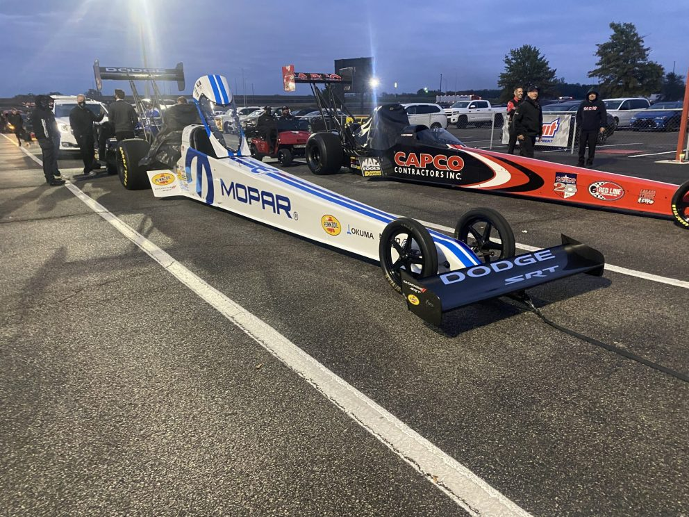 Leah Pruett's top fuel dragster