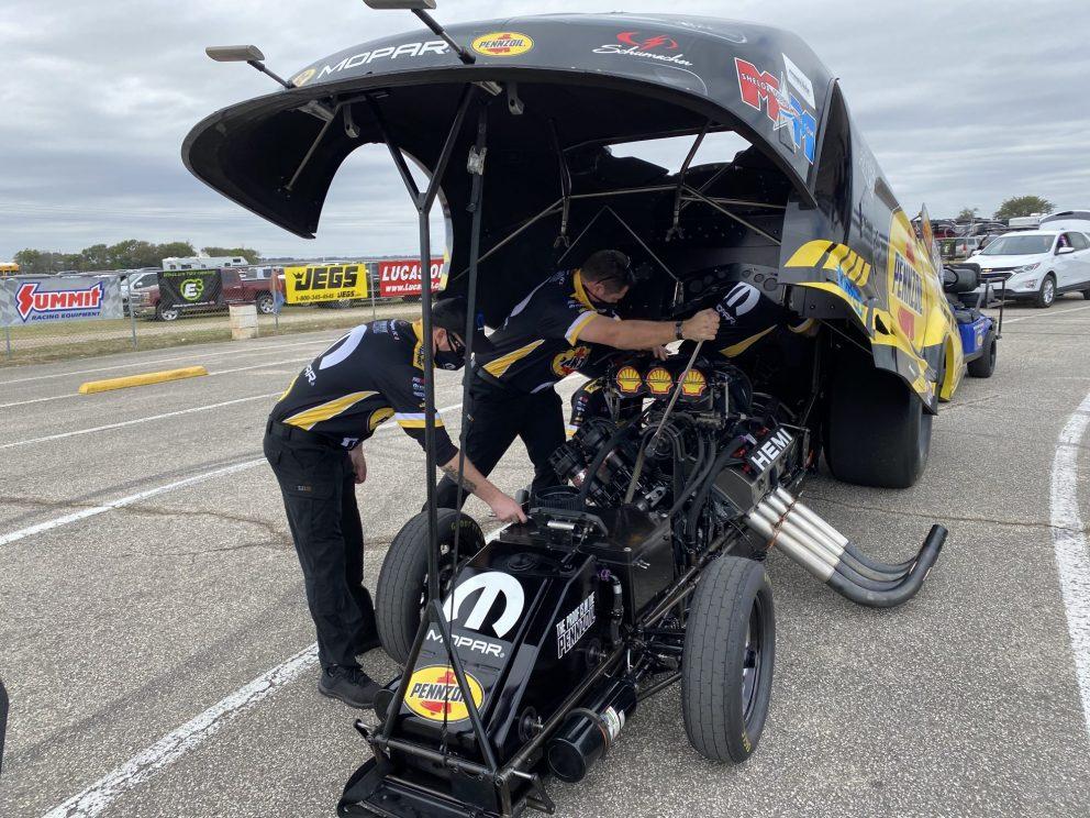Matt Hagan getting ready to race
