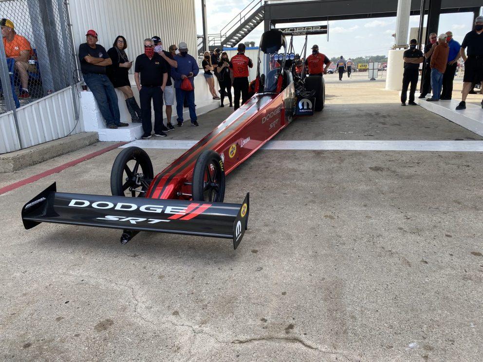 Leah Pruett's top fuel dragster