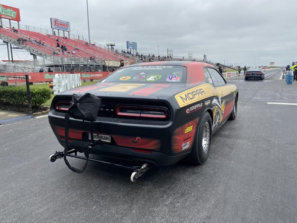 Leah's drag pak getting ready to race
