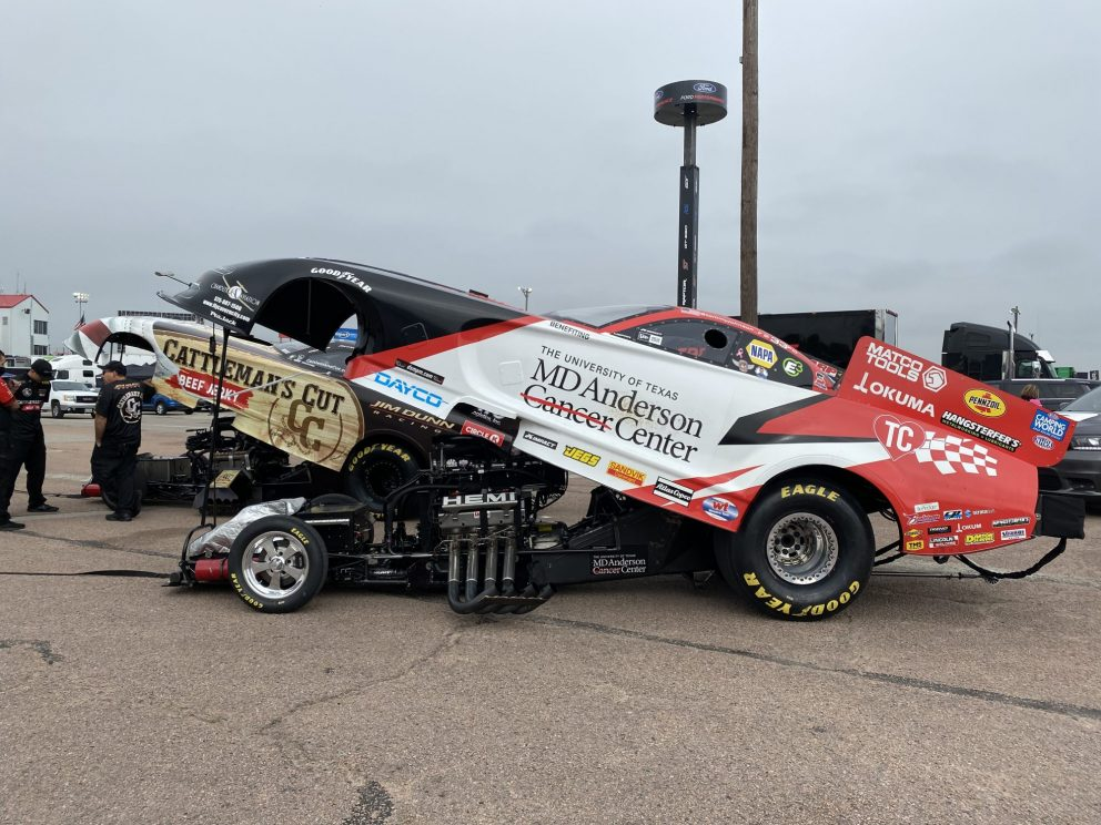 Tommy Johnson Jr's funny car