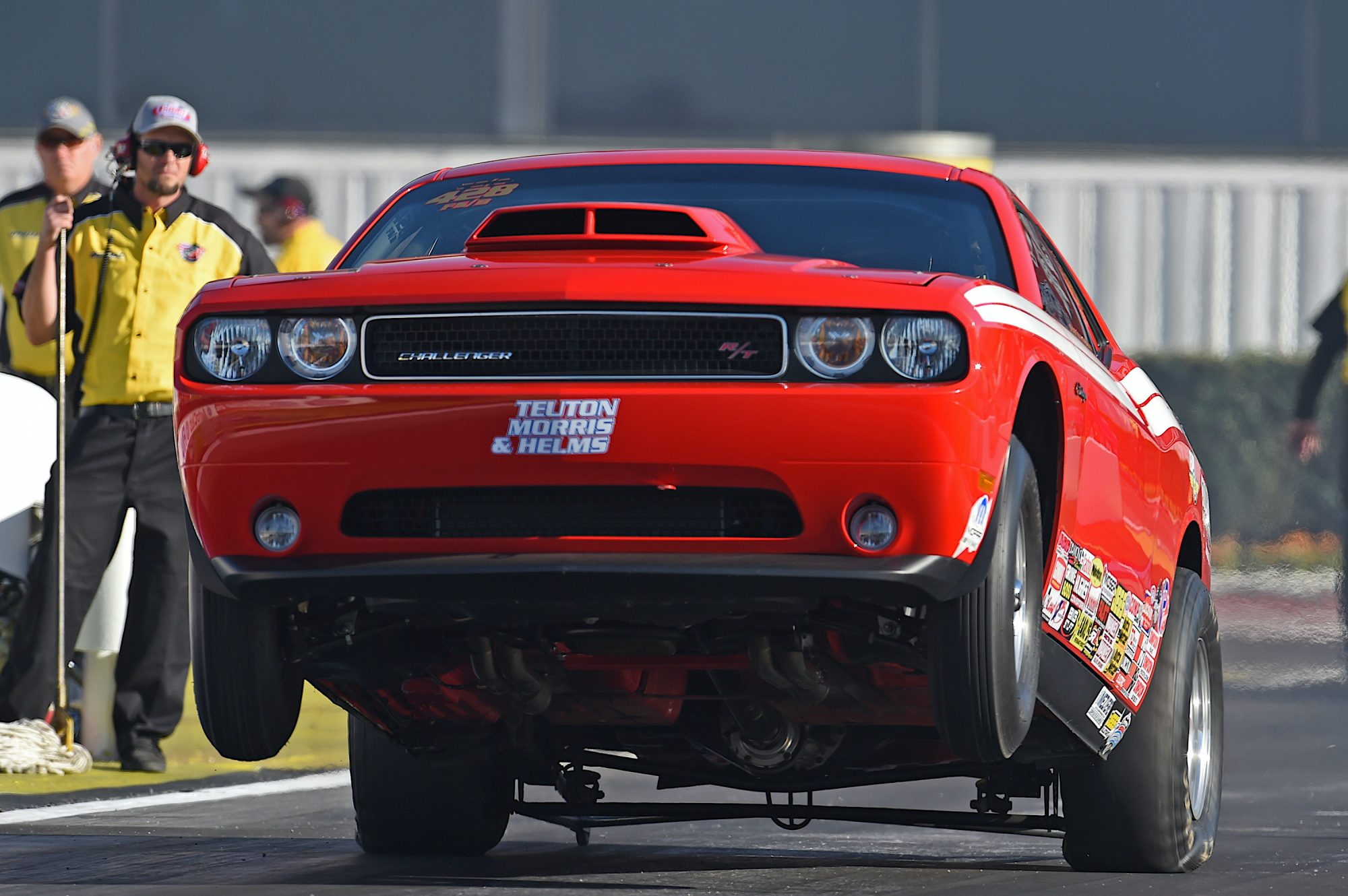 Challenger Drag Pak doing a wheelie