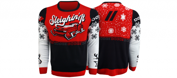Dodge ugly holiday sweater