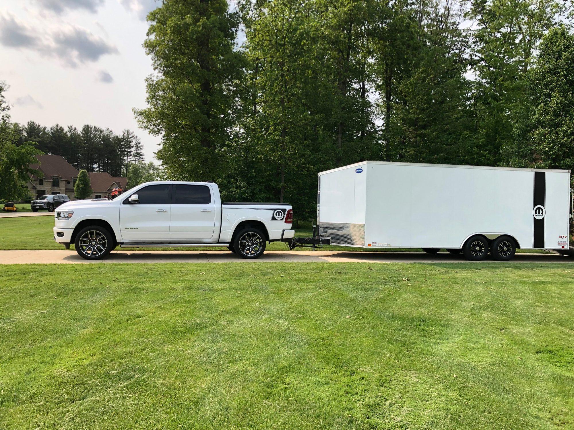 2019 Ram 1500 with matching Mopar trailer