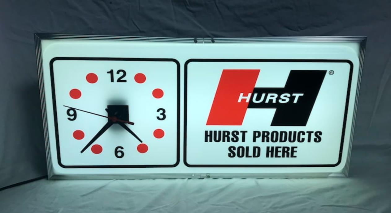Hurst light up sign
