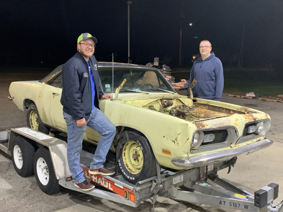 Millenial Mopar Owner - Posing with vehicle on trailer
