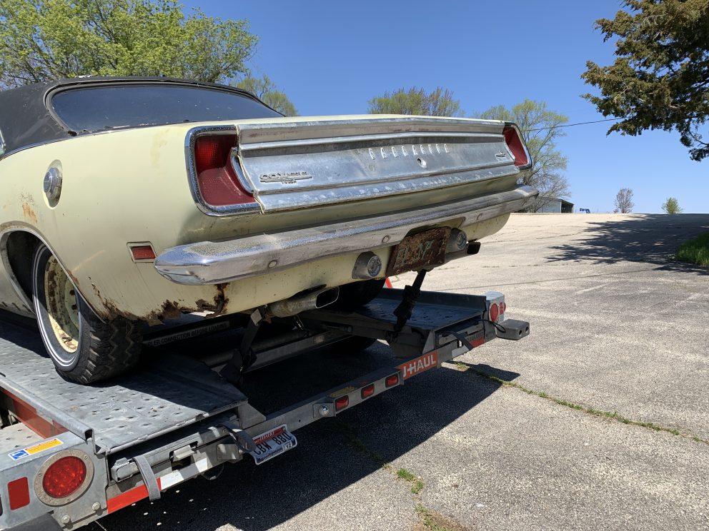 Millenial Mopar Owner - Bumper on trailer