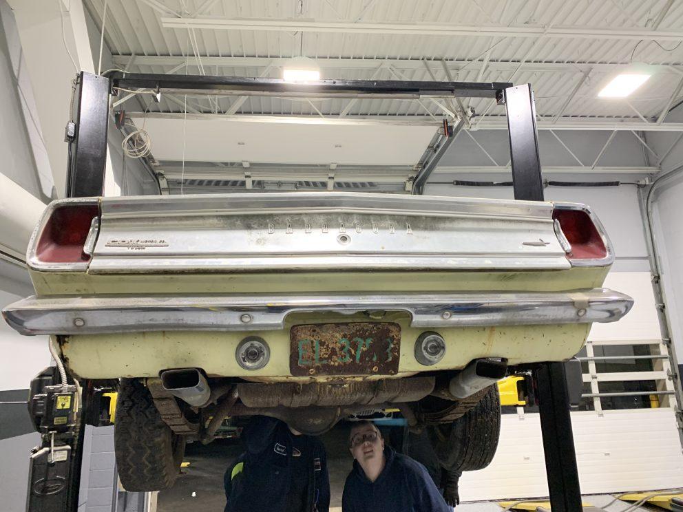 Millenial Mopar Owner - Rear on lift