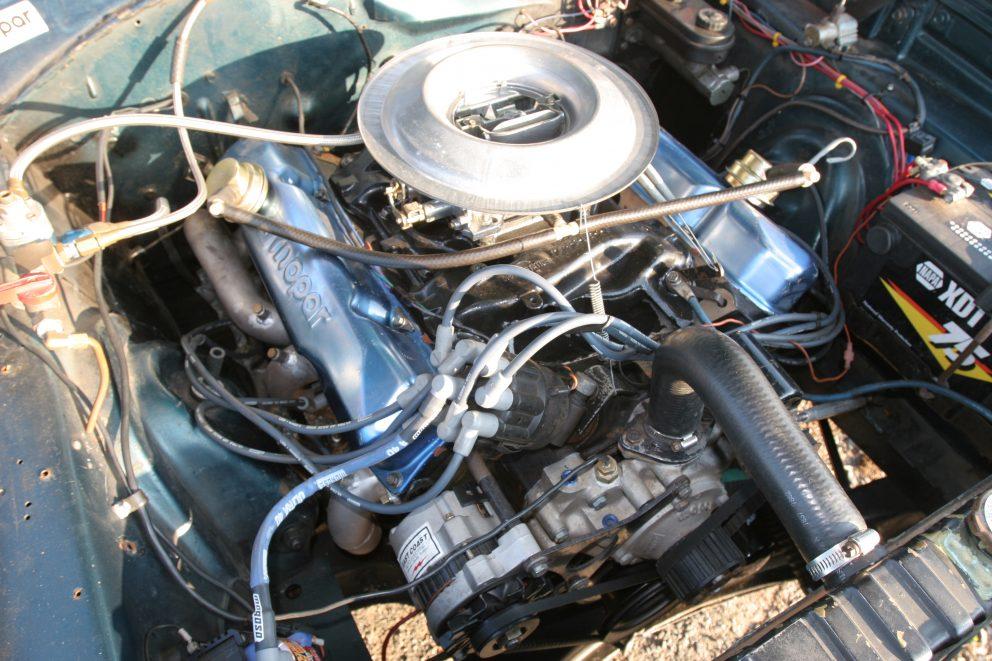 1967 Plymouth Satellite Mopar engine