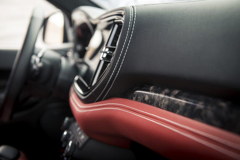 2021 Dodge Durango SRT Hellcat demonic red accents on interior
