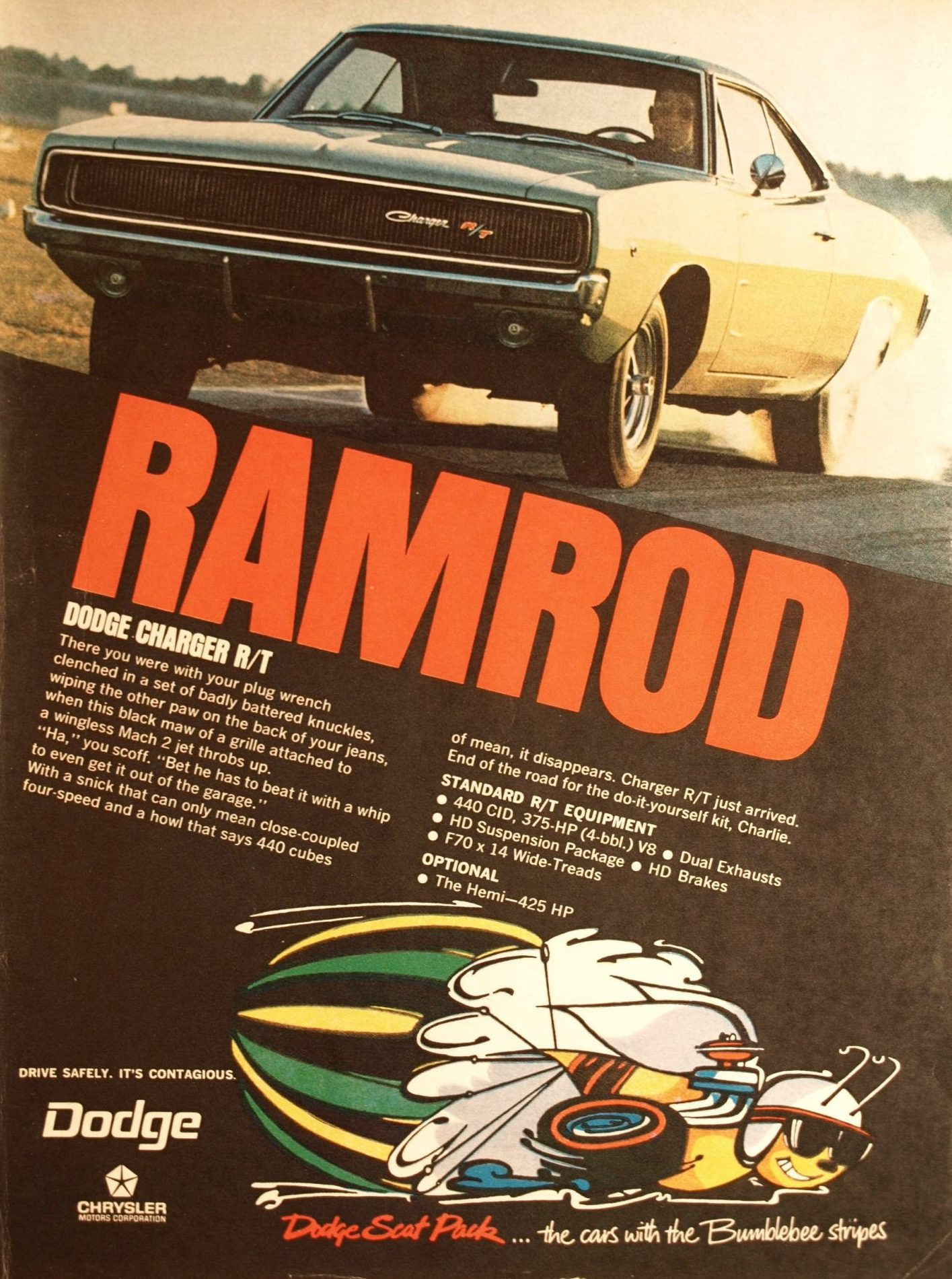 Ramrod Dodge Charger R/T Advertisement