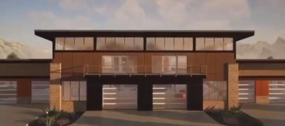 Rendering of Goldberg's garage