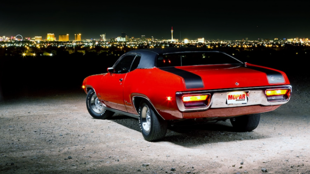 rear end of 1972 Plymouth Road Runner GTX