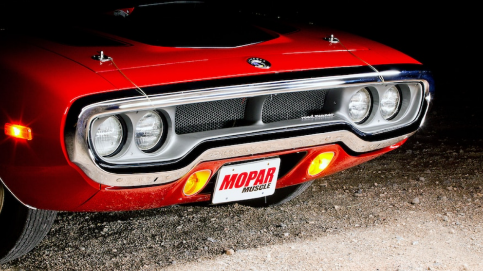 front end of 1972 Plymouth Road Runner GTX