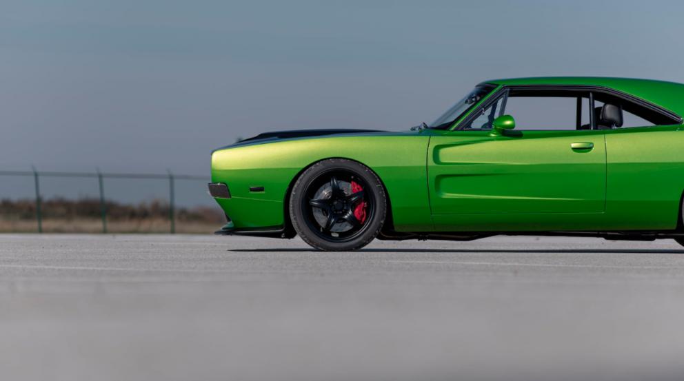 Dodge Charger restomod side profile