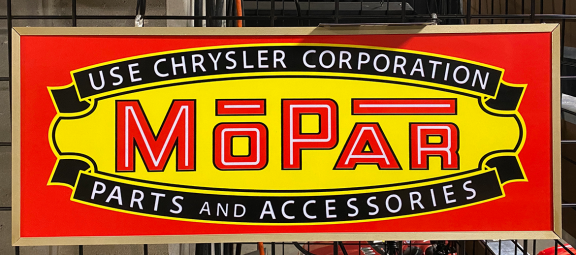 Vintage Mopar sign
