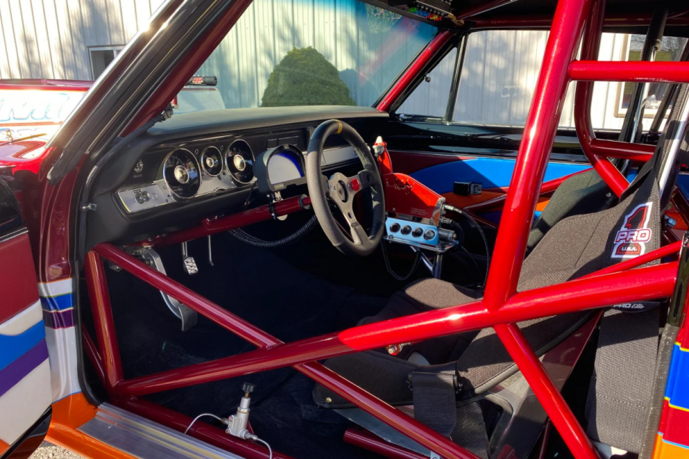Roll cage inside vehicle