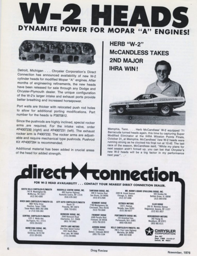 Herb McCandless racing article