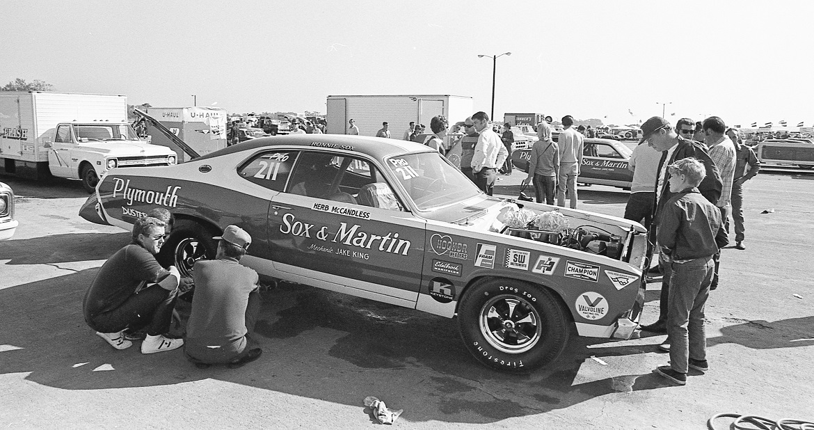 Herb McCandless working on his race car