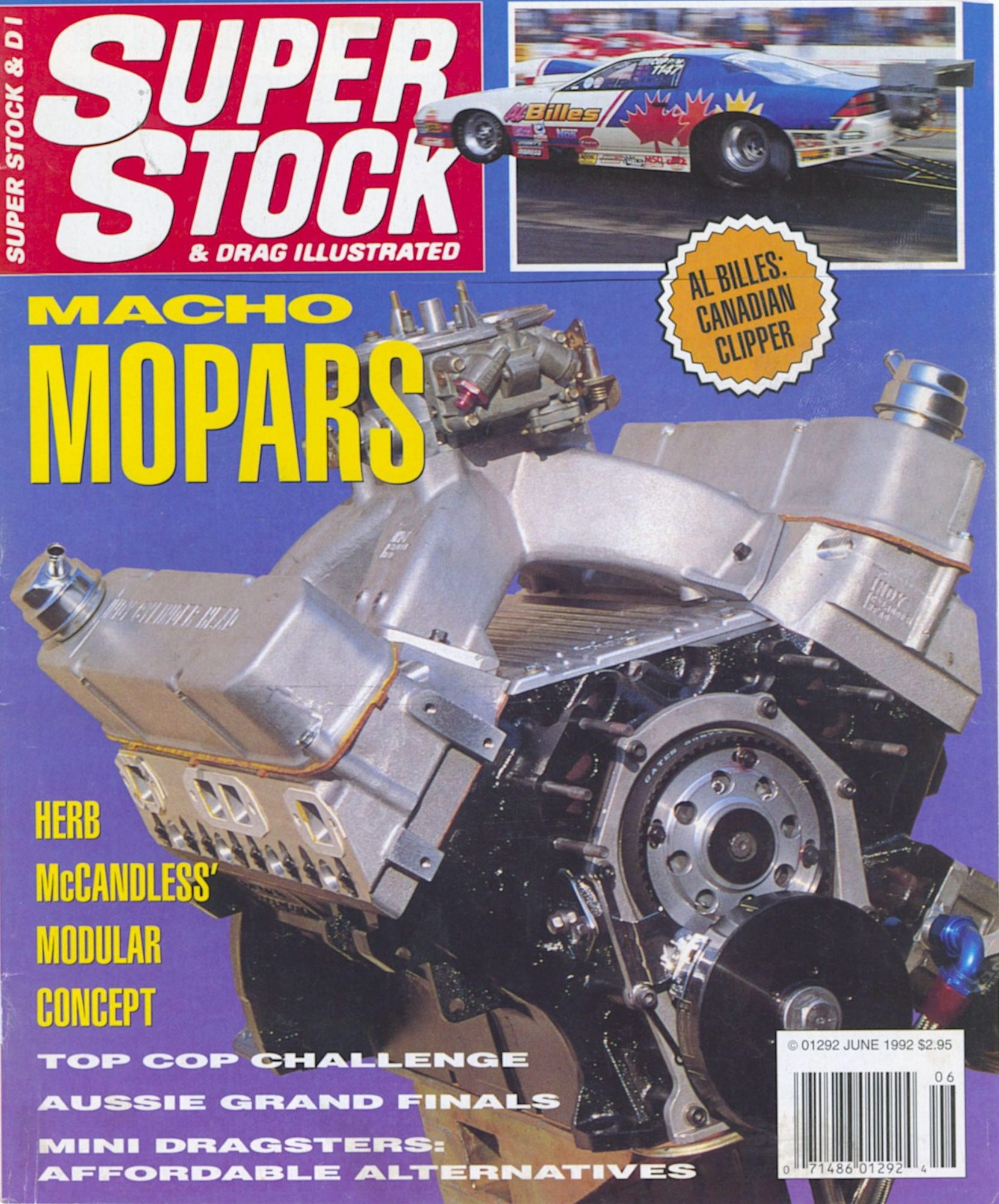 Herb McCandless racing on front cover of Super Stock and Drag Illustrated magazine