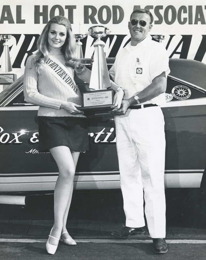 Herb McCandless winning a trophy