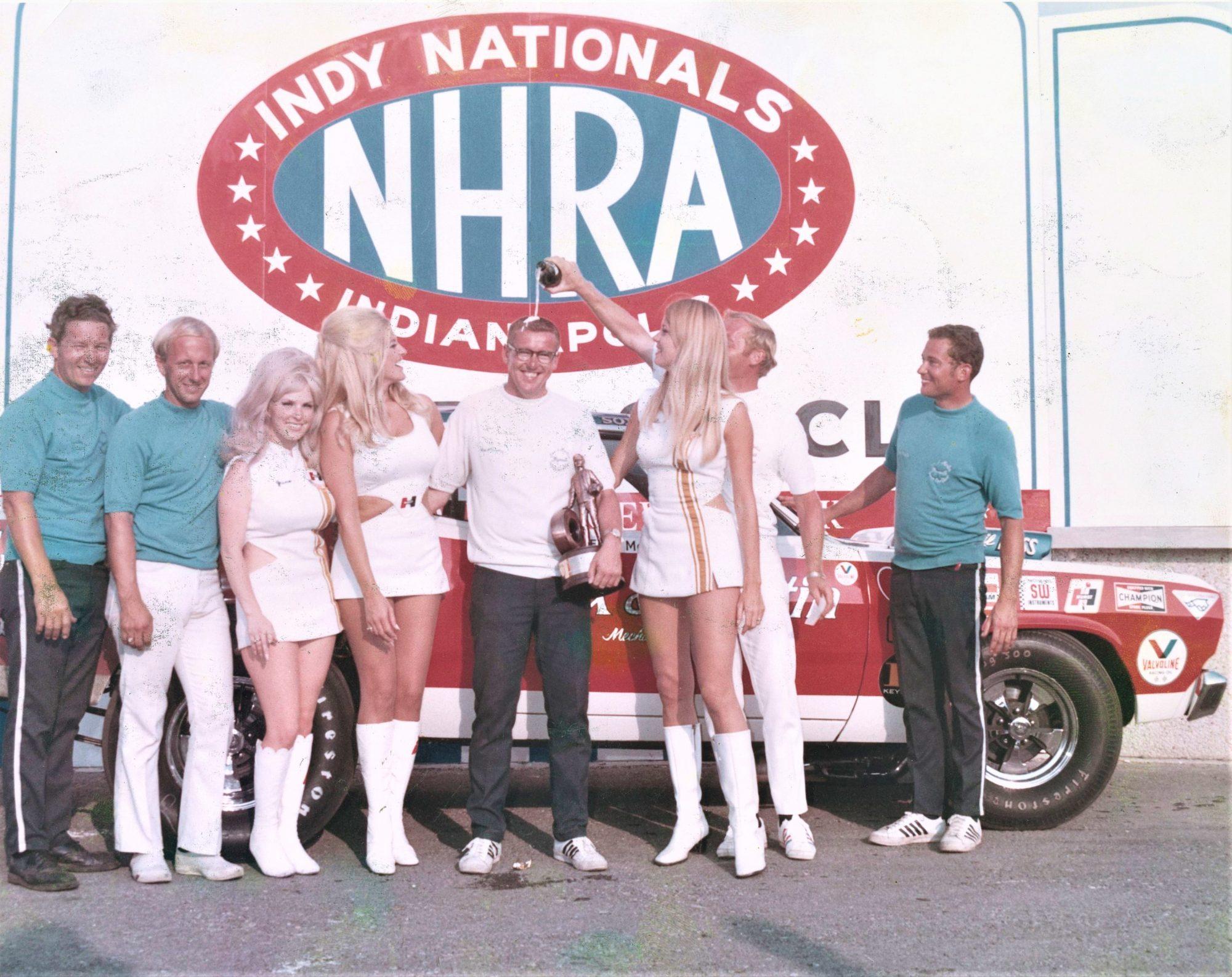 Herb McCandless posing after winning a race