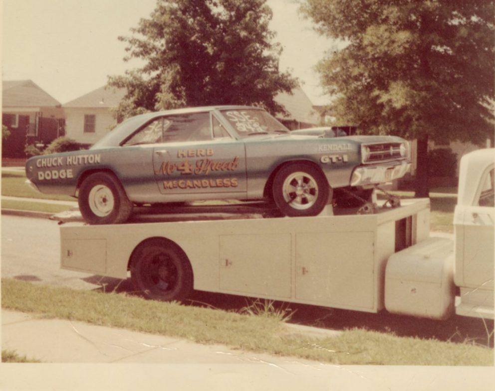 Herb's car on a trailer