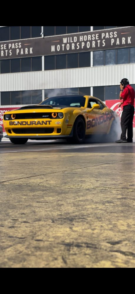 drag racing at Bondurant