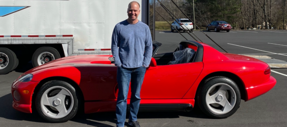 Owner with his 1993 Dodge Viper RT/10.