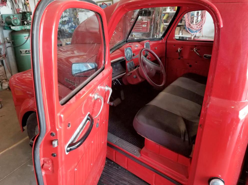 Restored 1951 Dodge B-2-B pickup interior