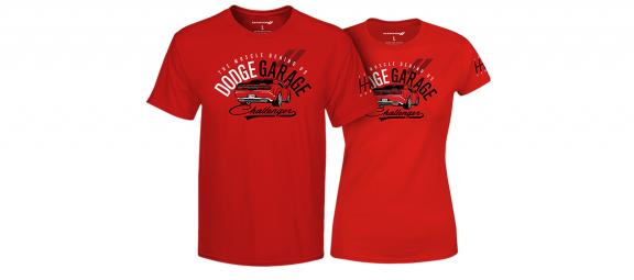 Red DodgeGarage shirts