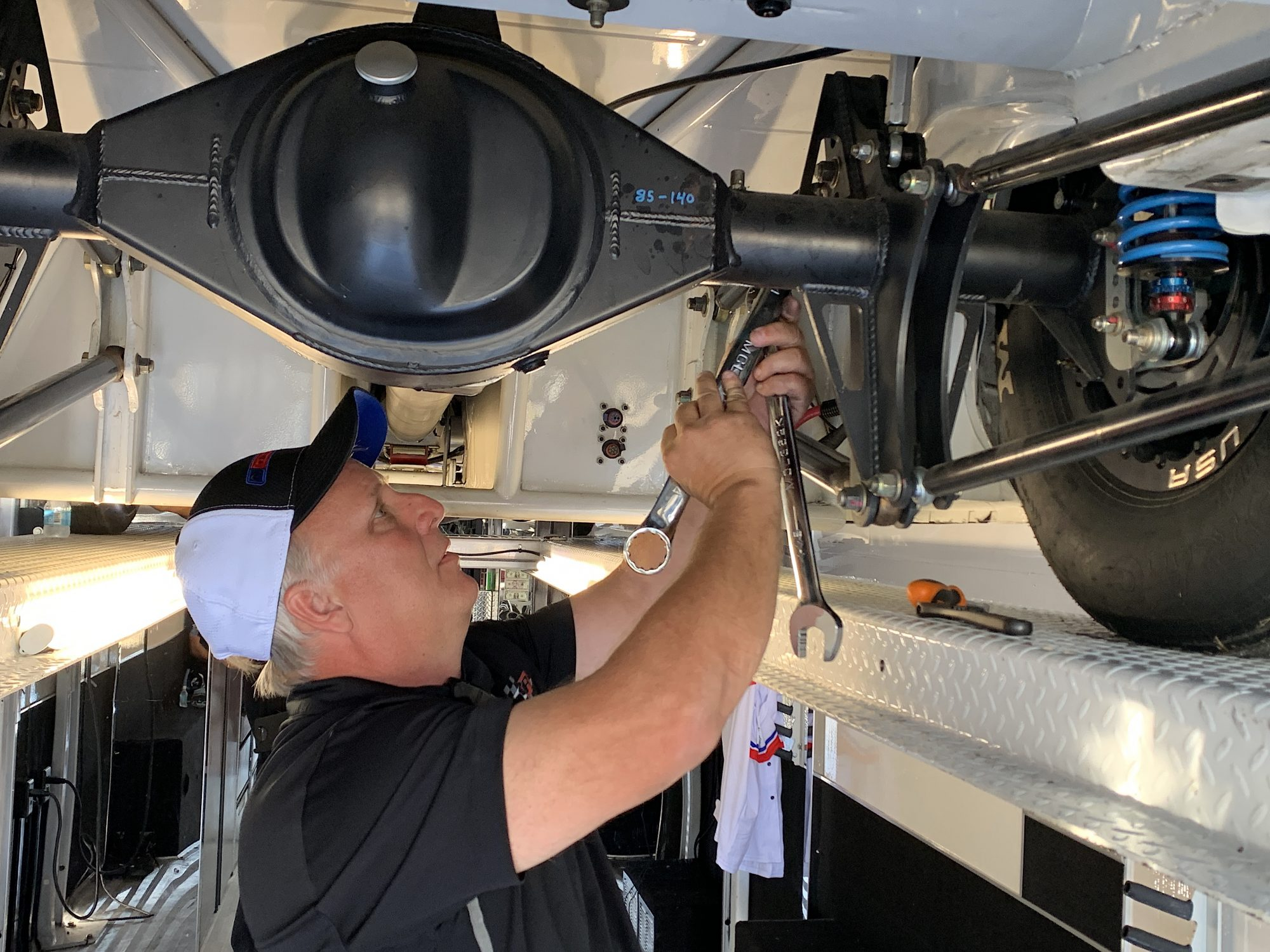 Kevin Helms working on the Drag Pak