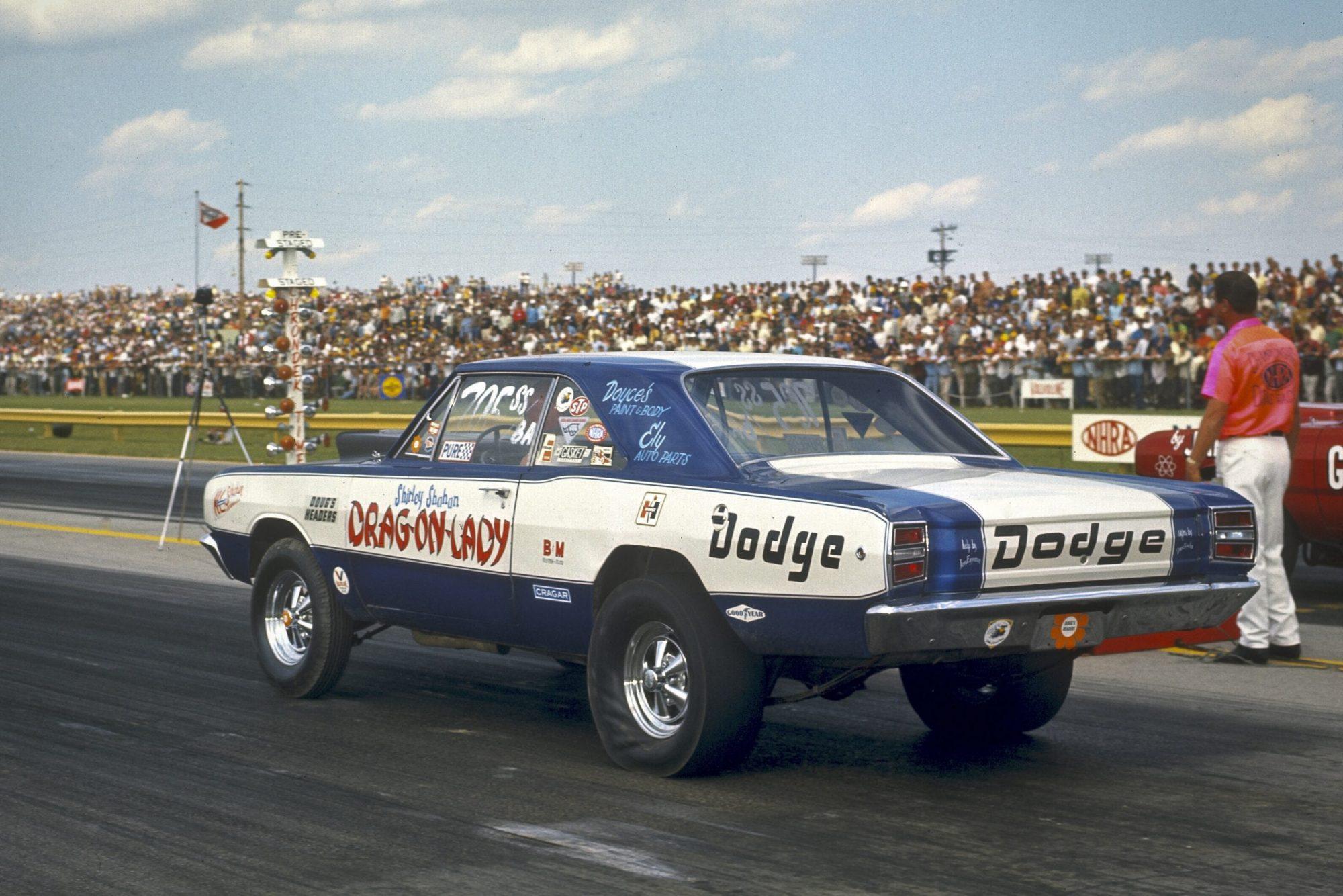 Shirley drag racing