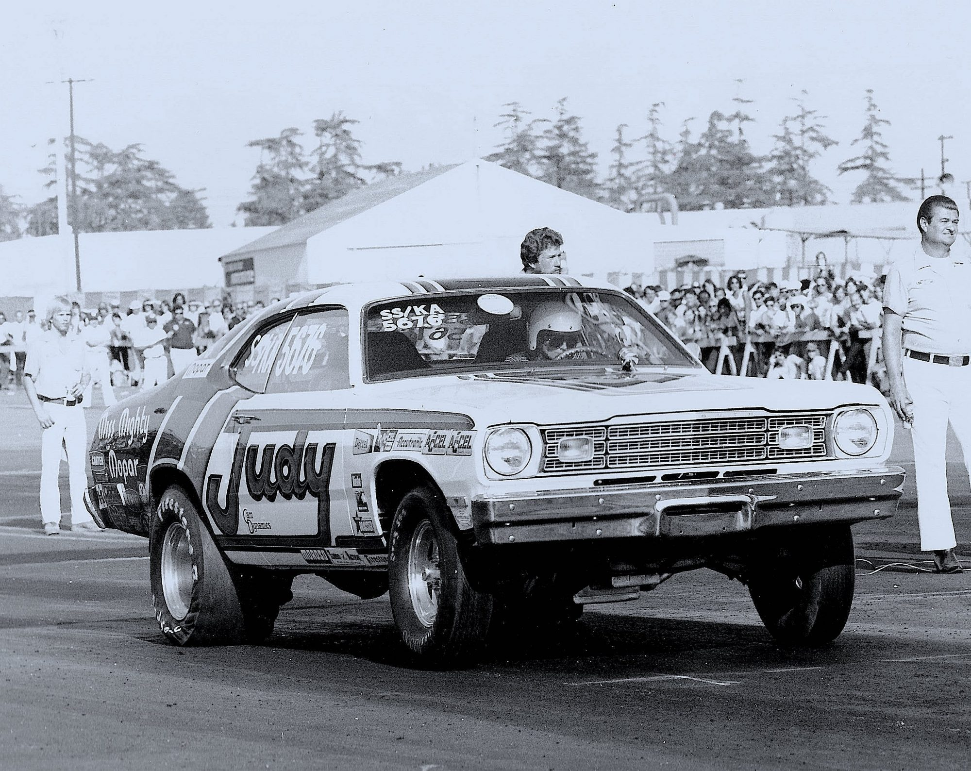 Judy Lilly drag racing