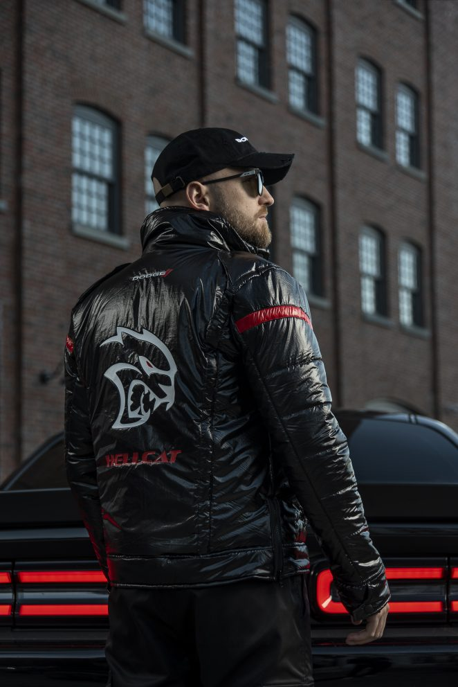 man wearing Hellcat jacket