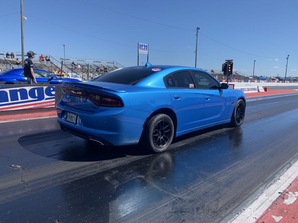 Charger racing at NMCA Muscle Car Mayhem 2021