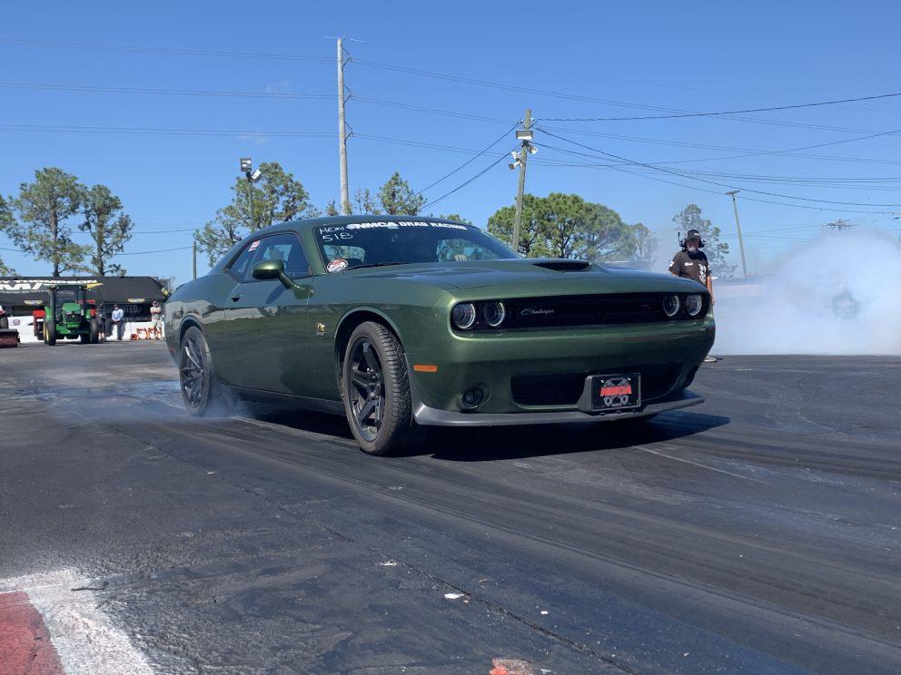 Challenger racing at NMCA Muscle Car Mayhem 2021