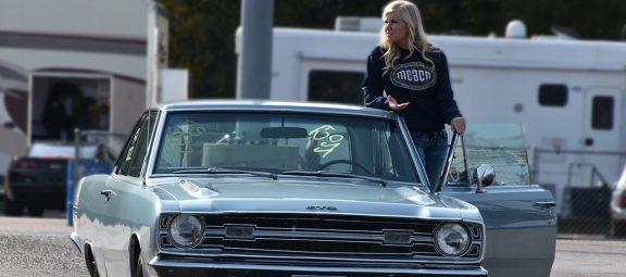 Adrianna Straub with her car