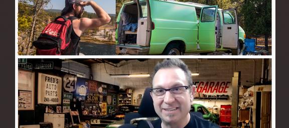 Drew and his van Larry