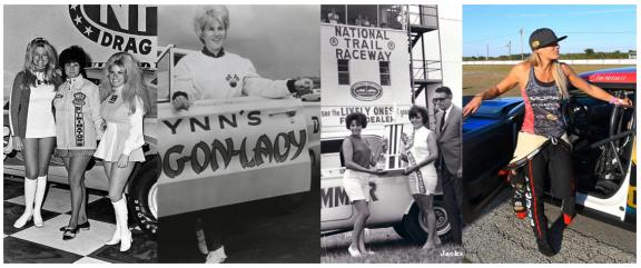 Drag racing women in history