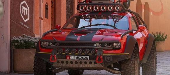 Modified Dodge Challenger SRT Hellcat