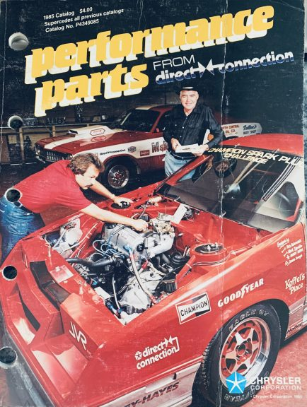 Mark Nowickis car on the front cover of a Direct Connection catalog