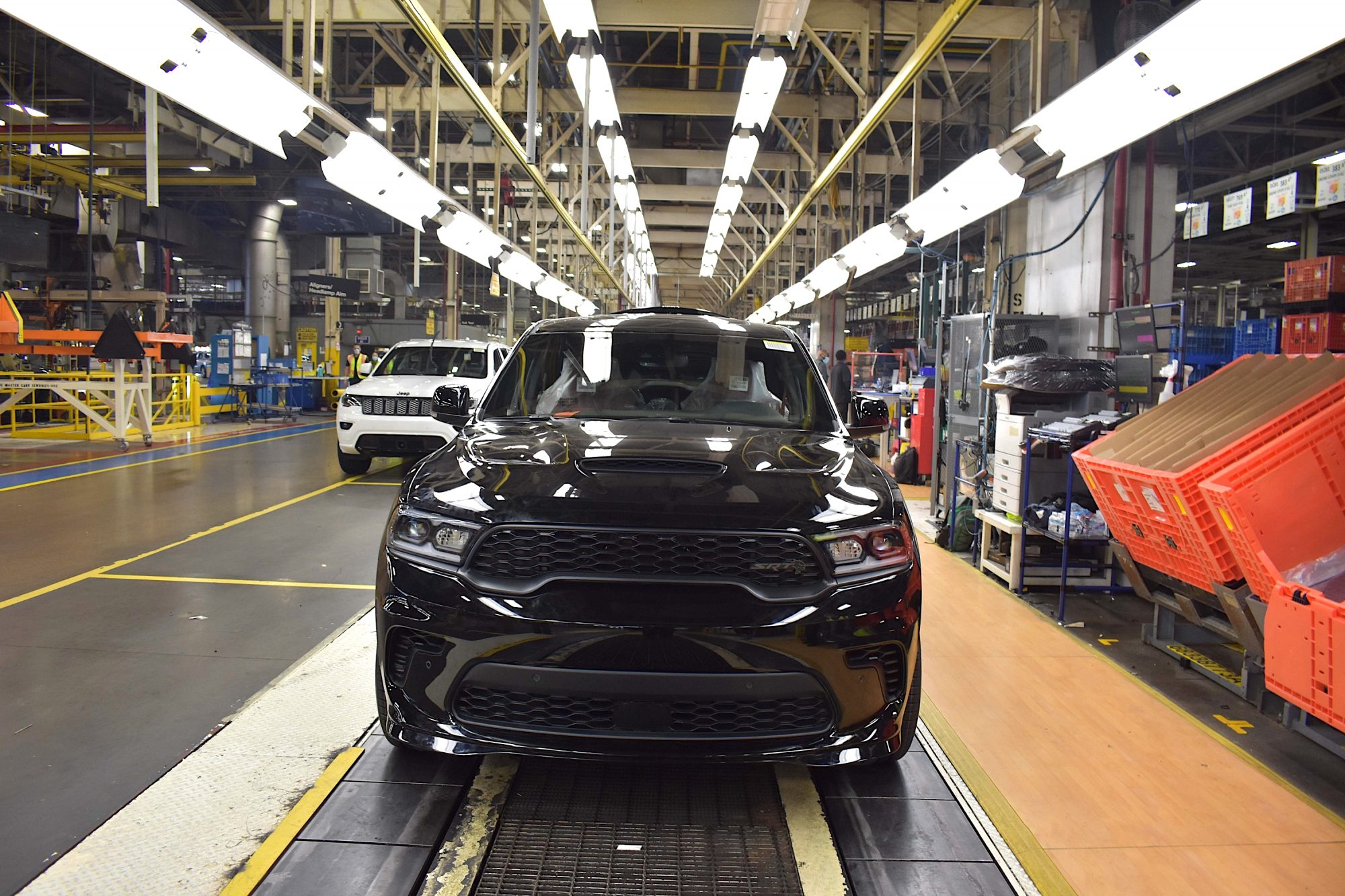 Durango SRT Hellcat on the assembly line