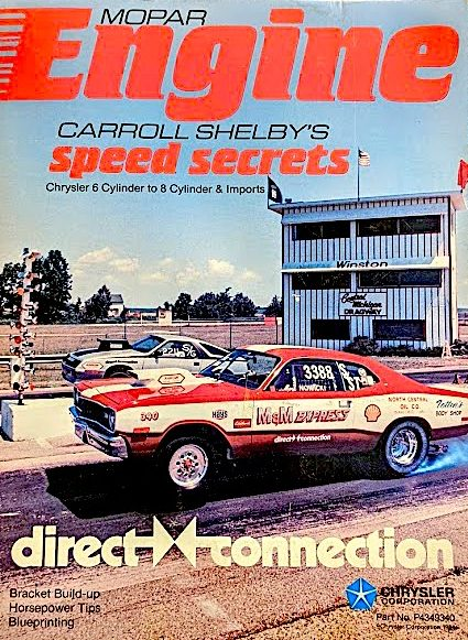 Mark Nowickis race car on the front cover of Direct Connection magazine
