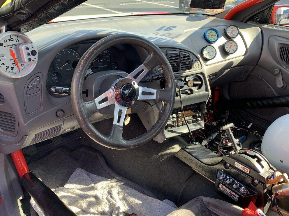 The inside of Mark Nowicki's race car