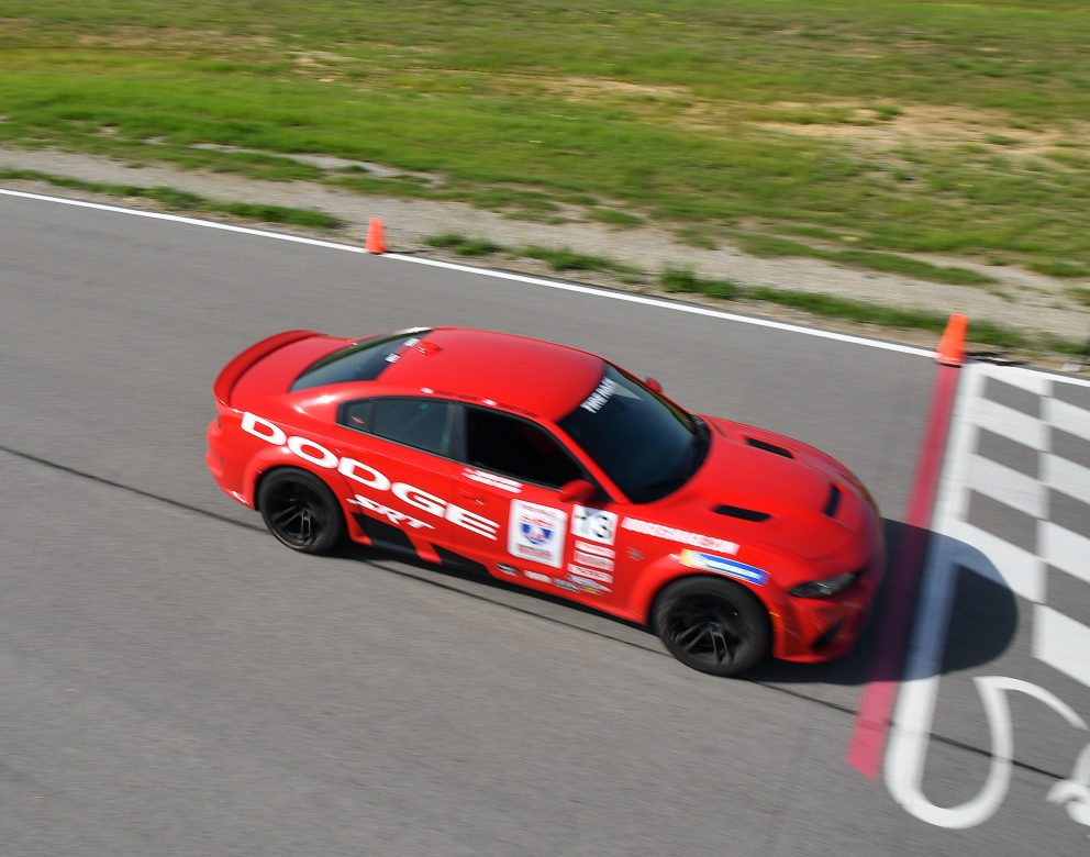 Charger SRT Hellcat Redeye Widebody racing in OLOA